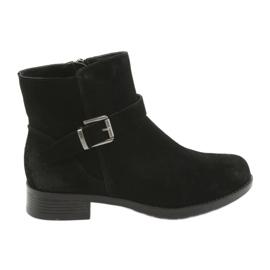 Sort American Club ruskind sorte støvler SH04
