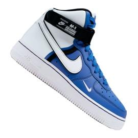 Nike Air Force 1 High LV8 2 Jr CI2164-400 sko hvidblå