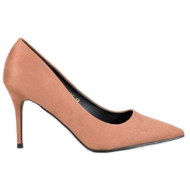 Diamantique brun Beige High Heels