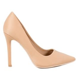 Diamantique brun Klassiske beige høje hæle
