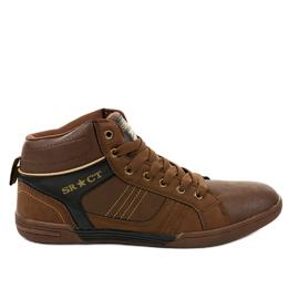 Brun sneakers til mænd 15M749