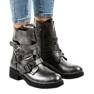 Grå kvinder støvler med HQ1588 spænder