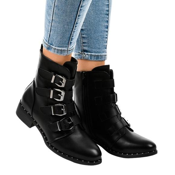 Sorte kvinders støvler med S120 spænder