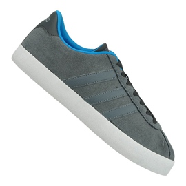 Grå Adidas Vl Court Vulc M AW3927 sko