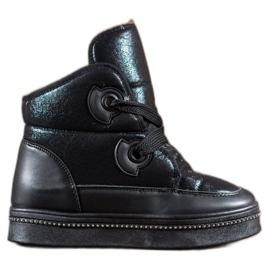 RTX WALK sort Sne støvler med krystaller