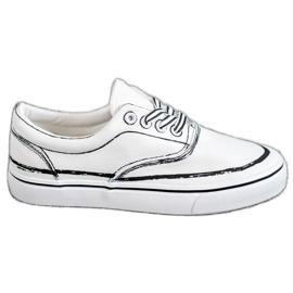 Bestelle Moderigtige sneakers hvid