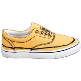 Bestelle Moderigtige sneakers gul