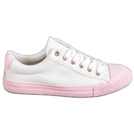 EXQUILY Farverige sneakers hvid