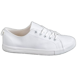 SHELOVET hvid Behagelige sneakers
