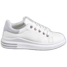SHELOVET hvid Eco læder sneakers