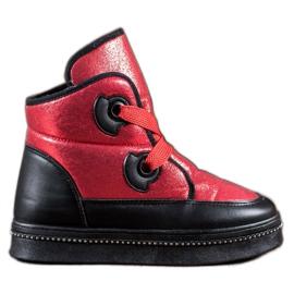 RTX WALK rød Sne støvler med krystaller