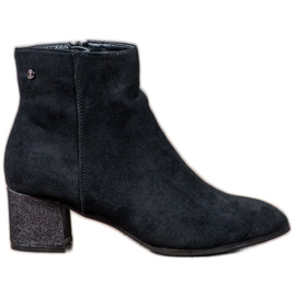 Filippo sort Klassiske ruskindstøvler
