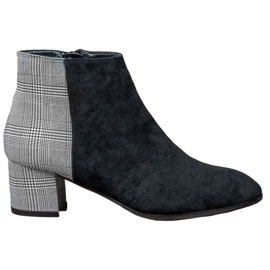 Filippo sort Stilfulde ankelstøvler