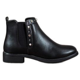 SDS Sorte støvler med perler