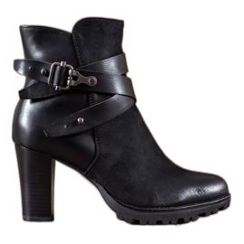Super Mode sort Klassiske ankelstøvler