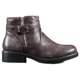 Abloom Grå støvler med Eco læder