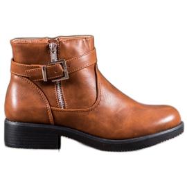 Abloom Brun ankelstøvler med Eco læder