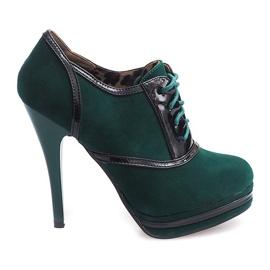 Grøn Elegante støvler på en hæl KA5513 Green