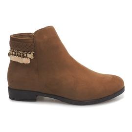 Brun Ruskindstøvler LL113 Camel