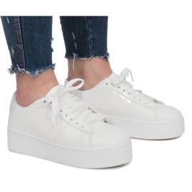 Sort Hvide platform Sneakers Livet De Lux