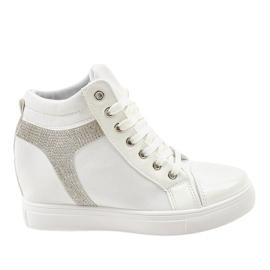 Hvide kile sneakers med AN2959 paljetter