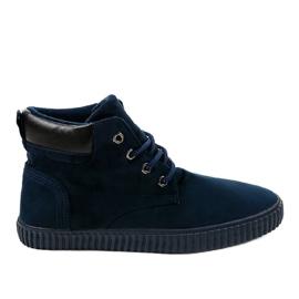 Navy Mørkeblå isolerede mænds sneakers AN06