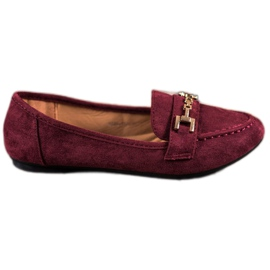 Abloom rød Suede Lords With Decoration