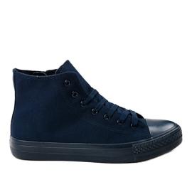 Mørkeblå høje sneakers XN50 navy