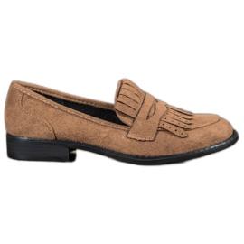 SHELOVET Loafers med frynser brun