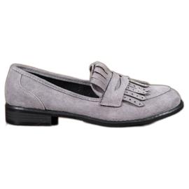 SHELOVET Loafers med frynser grå