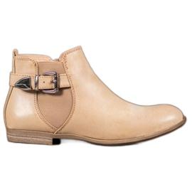 Sixth Sense Eco læder støvler med en spænde brun