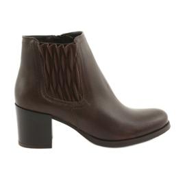 Gamis Brun ankelstøvler med høje hæle
