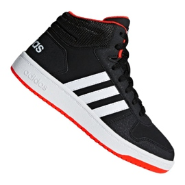 Sort Adidas Hoops Mid 2.0 K Jr B75743 sko
