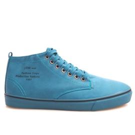 Stilfulde høje sneakers Y007 himmelblå