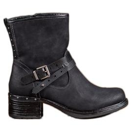SHELOVET Høje støvler med spænde sort