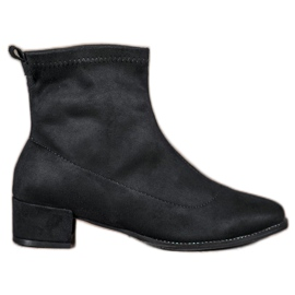 Small Swan Slip-on Suede Boots sort