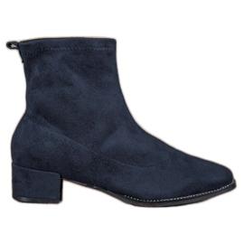 Small Swan Slip-on Suede Boots blå
