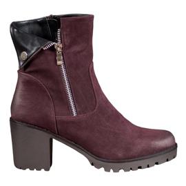 VINCEZA Burgundy støvler rød