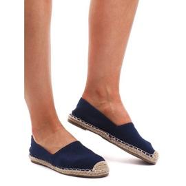Espadrilles F169-6 blå sandaler