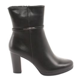 Daszyński Kvinders høje støvler på stolpen sort