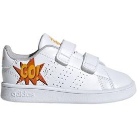 Hvid Adidas Advantage I Jr EF0305 sko