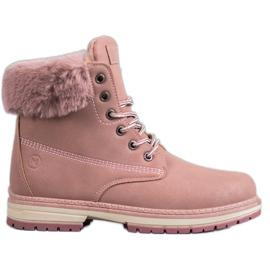 MCKEYLOR brokadestøvler pink