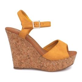 Kile sandaler Cork 5H5654 Gul