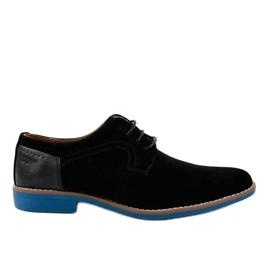 Sorte elegante sko H-32
