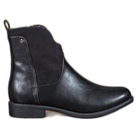 Filippo Komfortable sort ankelstøvler