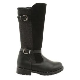 Evento 1501 pigens støvler i sort