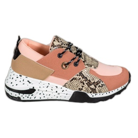 Snake Print VICES sneakers pink