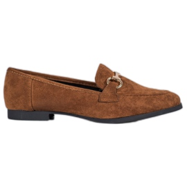 VICES suede moccasins brun