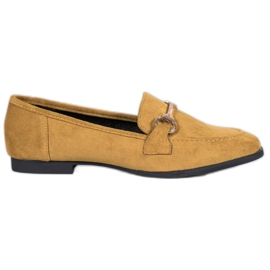 VICES suede moccasins gul