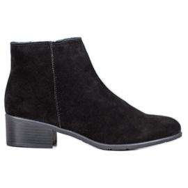 Filippo Klassiske læderstøvler sort